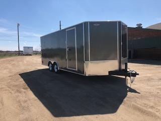 2020 H and H Trailers 101x20FT Flat Top V-nose Car / Racing Trailer