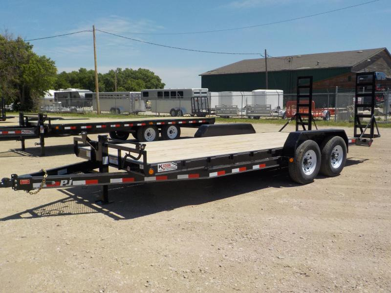 "2020 PJ  18' 5"" Channel Open / Racing Car Trailer"