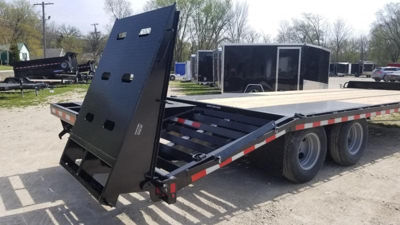 2020 Sure-Trac 8.5x20+5 Heavy Duty Equipment Trailer w/Full Width Ramps 20k
