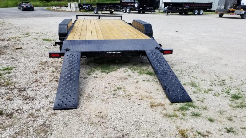 2020 Sure-Trac 7x18 Wood Deck Auto Hauler w/Slide Out Ramps 7k