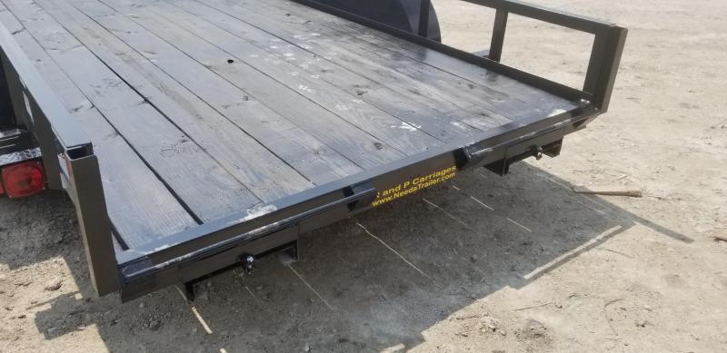 2019 M.E.B 6.4x16 Utility Trailer w/Slide Out Ramps 7k