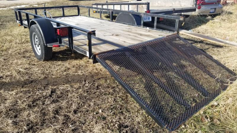 2010 Rice Trailers 7x12 Utility Trailer w/Ramp Gate 3k