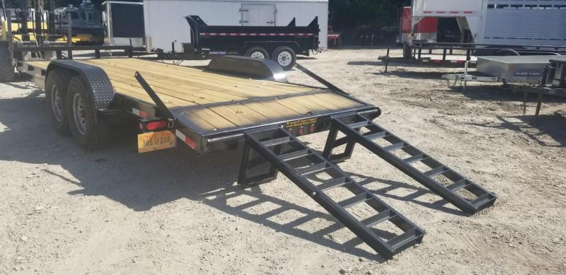 FOR RENT ONLY #22 7x20 M.E.B Equipment Trailer w/Stand Up Ramps