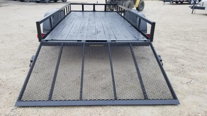 2020 M.E.B. 6.4x14 Angle Iron Utility Trailer w/Gate and Brakes 7k
