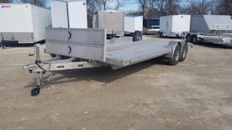 2020 R and R 7x22 All Aluminum Open Auto Hauler w/Wide Front Load 10k