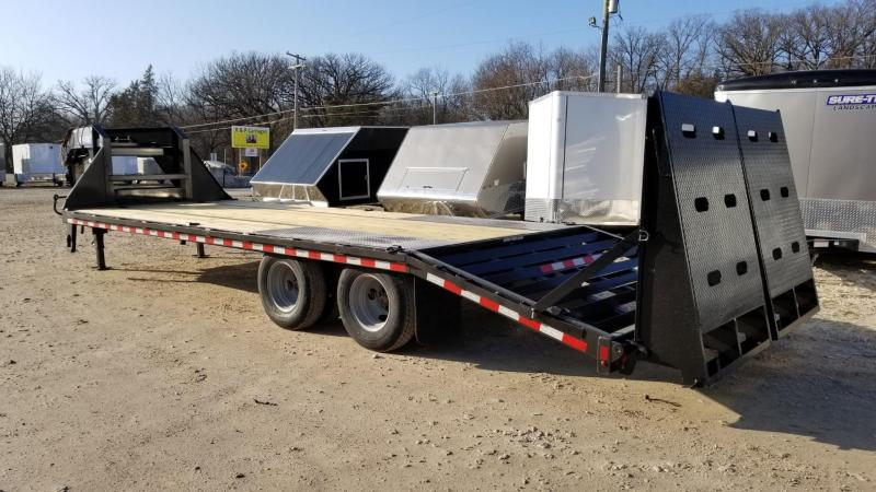 2020 Sure-Trac 8.5x20+5 Heavy Duty Gooseneck Equipment Trailer w/Full Width Ramps 20k