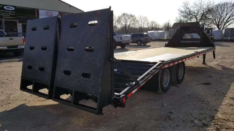 2020 Sure-Trac 8.5x20+5 Heavy Duty Gooseneck Equipment Trailer w/Full Width Ramps 20k