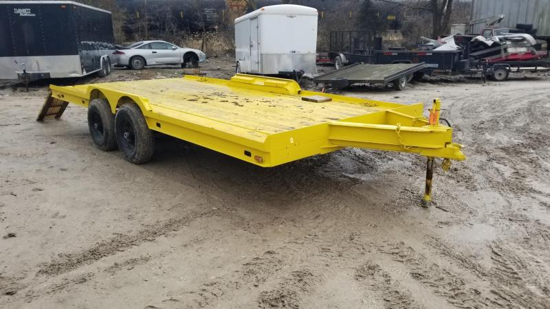 1980 Homemade 7x18 Car Hauler Flatbed Trailer 7k