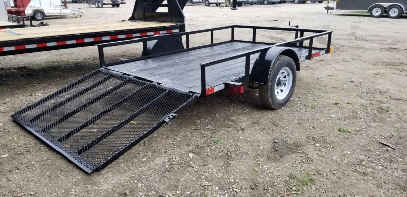 2019 M.E.B 6.4x10 Angle Iron Utility Trailer w/Gate 3k