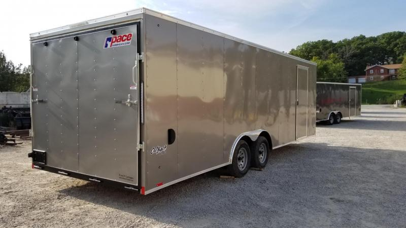 2020 Pace 8.5x24 Outback Deluxe Enclosed Auto Hauler Trailer 7k