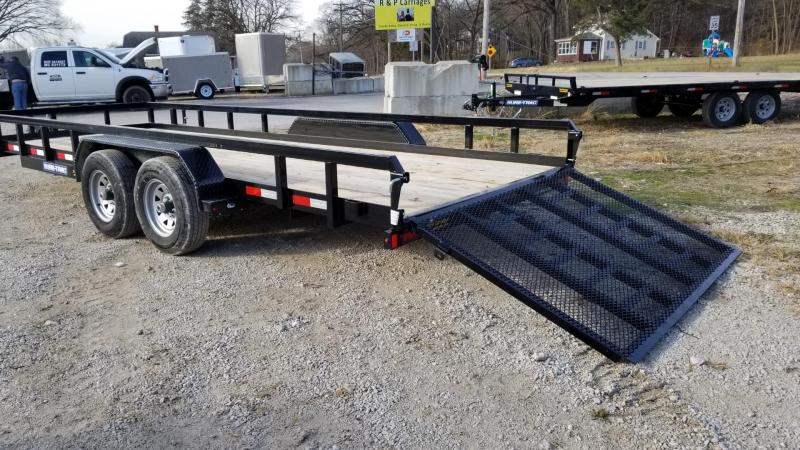 2020 Sure-Trac 7x20 Tube Top Utility Trailer w/Surge Brakes 10k