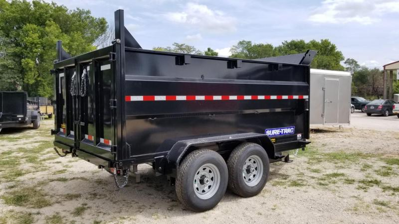2020 Sure-Trac 82x14 Telescopic Dump Trailer w/4' Sides 14k