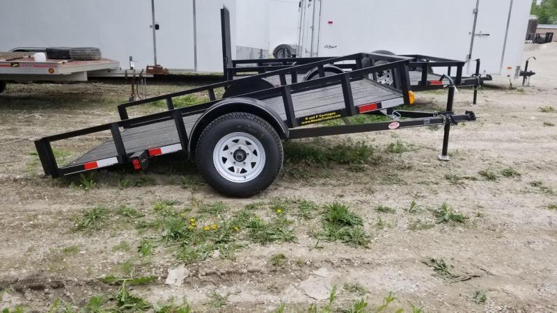 2020 M.E.B. 6.4x10 Angle Iron Tilt Utility Trailer w/Board Holders 3k