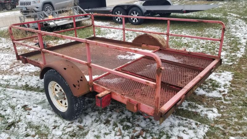 2002 Barron 5x8 Open Steel Deck Utility Trailer 2k