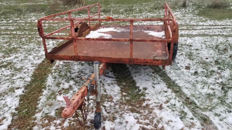 2002 Barron 5x8 Open Steel Deck Utility Trailer 2k