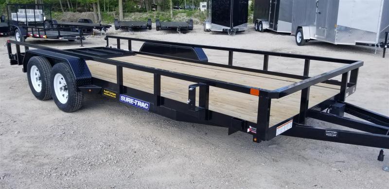 2020 Sure-Trac 7x18 Tube Top Utility Trailer w/Gate 7k