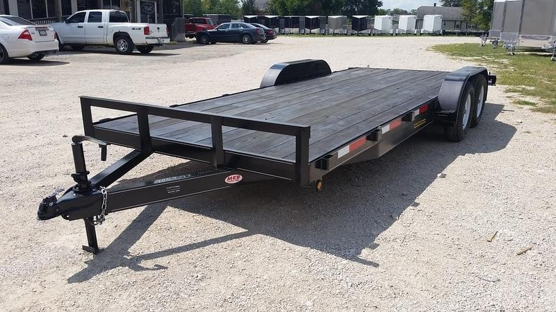 ON ORDER 2019 MEB 7x20 Open Wood Deck Auto Hauler 7K