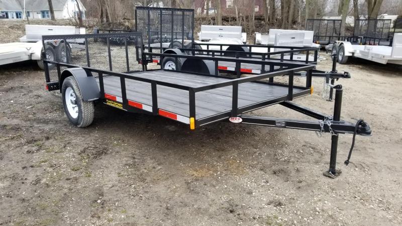 2020 M.E.B. 6.4x12 Angle Iron Utility Trailer w/Ramp and Dovetail 3k