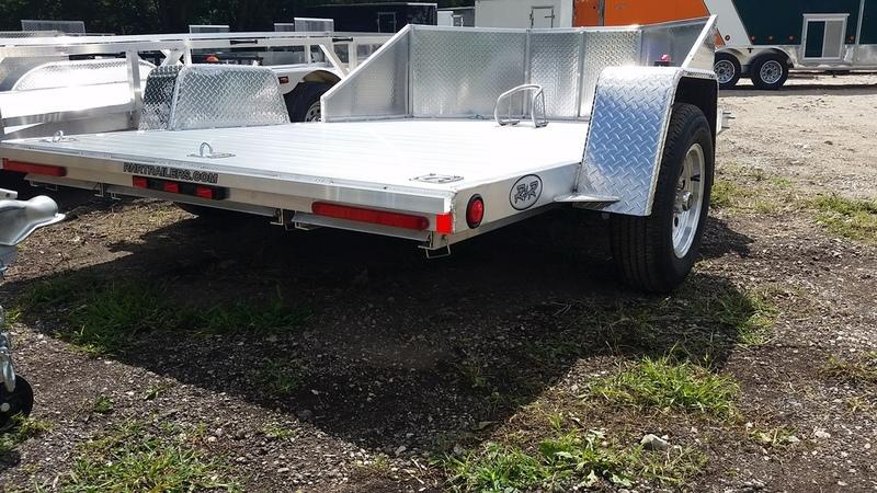 2020 R and R OMC3 All Aluminum Motorcycle Trailer w/Slide Out Ramps 3k