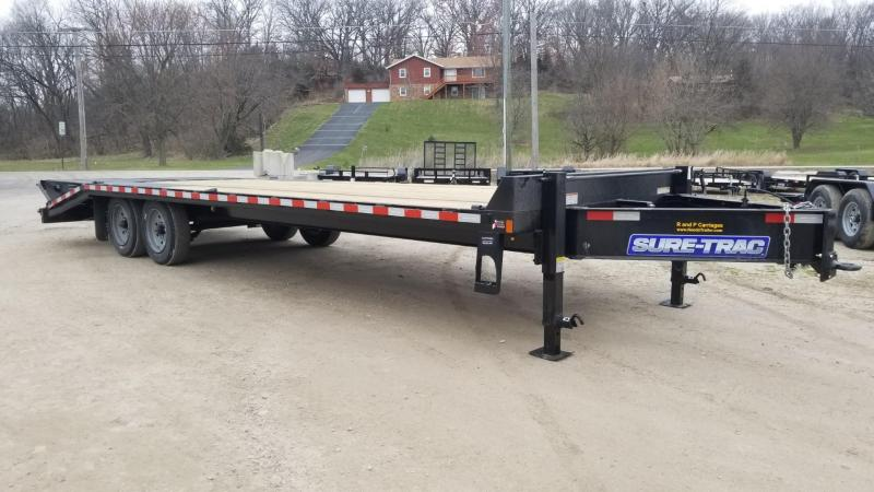 2020 Sure-Trac 8.5x20+5 Deckover Equipment Trailer w/Full Width Ramps 17.6k