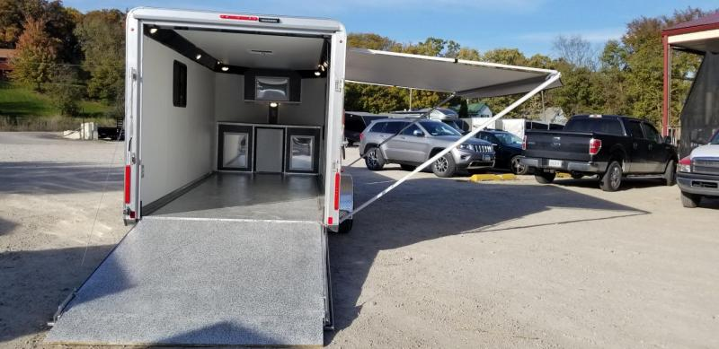 "2019 R&R 7x16 All Aluminum VDCP ""Toy Hauler"" Cargo Trailer 7k"
