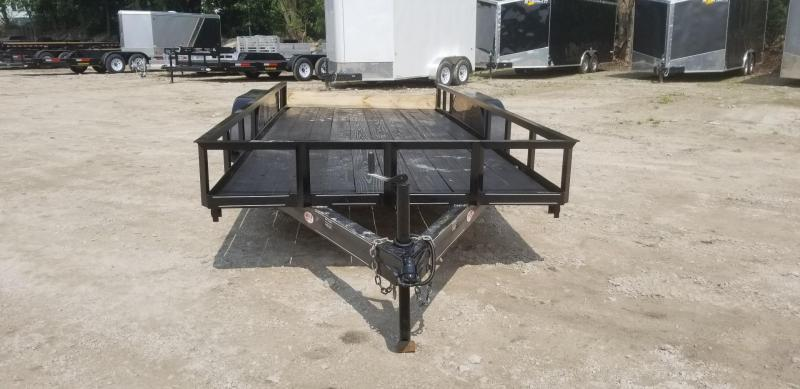 2020 M.E.B 6.4x16 Angle Iron Utility Trailer w/Slide Out Ramps 7k
