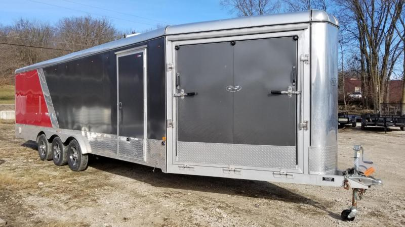2014 R and R 7.5x24 Power Sport Deluxe Drive Thru Snowmobile Trailer 7k