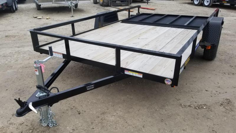 2020 Sure-Trac 7x12 Angle Iron Utility w/Gate 3k