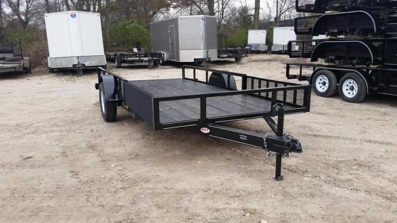 2020 M.E.B 6.4x12 Angle Iron ATV/Utility Trailer w/5' Side Load Ramps 3k