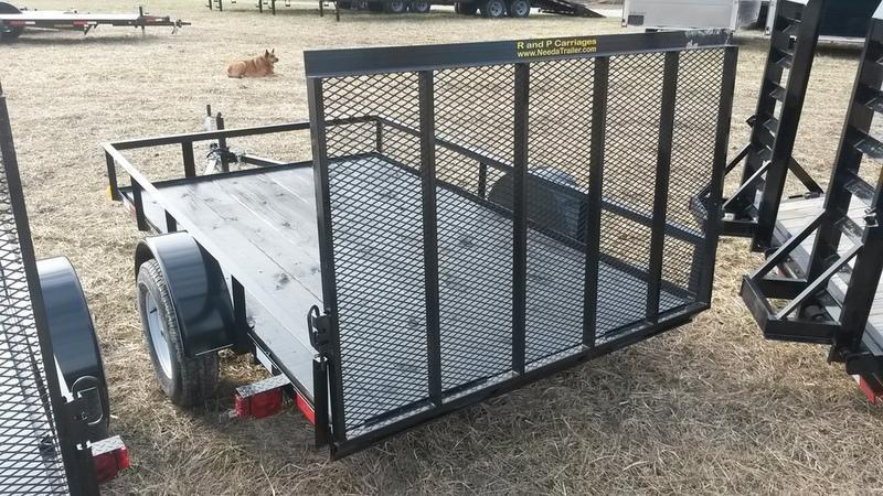 ON ORDER 2019 M.E.B 6.4x12 Angle Iron Utility Trailer w/Gate 3k
