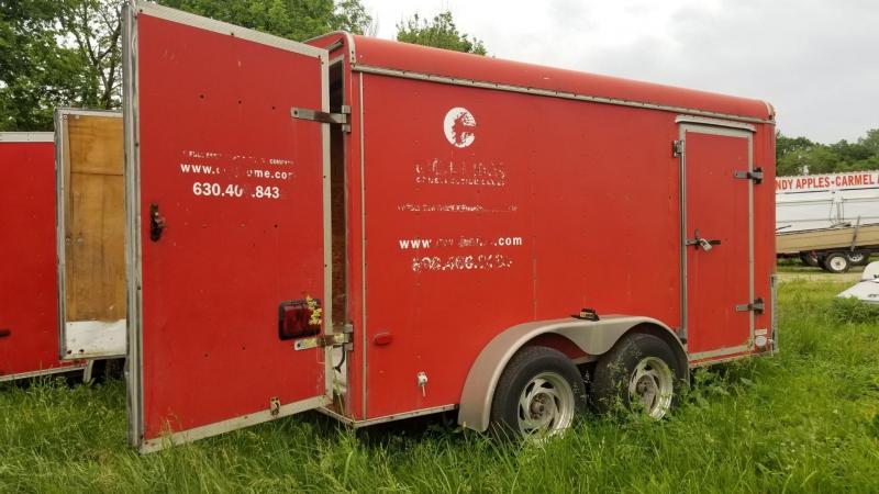 2000 United Trailers 7x12 Enclosed Cargo Trailer w/Barn Doors 7k
