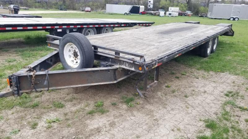2008 Sure-Trac 8.5x24+5 Deckover Equipment Trailer w/Ramps 14k
