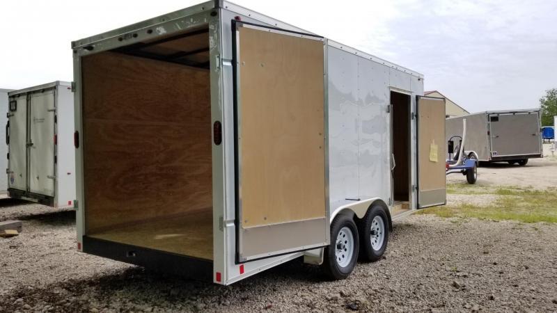 2020 Interstate 7x16 STW Enclosed Cargo Trailer w/Barn Doors 7k