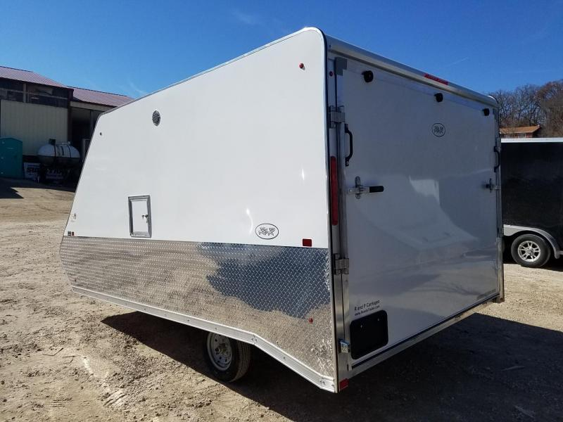 2020 R and R 12ARC Aluminum 2 Place Snowmobile Trailer 3k