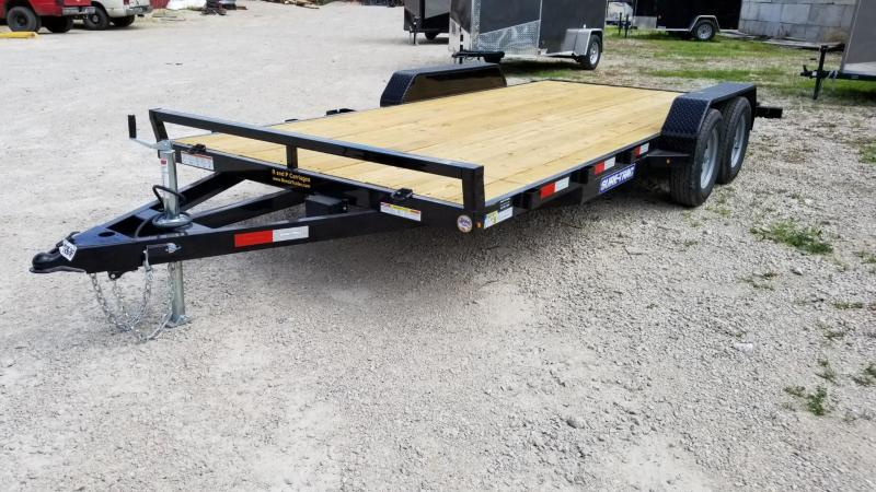 2020 Sure-Trac 7x20 Wood Deck Auto Hauler w/Slide Out Ramps 7k