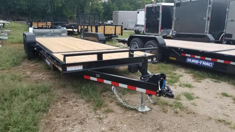 2020 Sure-Trac 7x18+4 Tilt Deck Equipment Trailer w/Stationary 14k