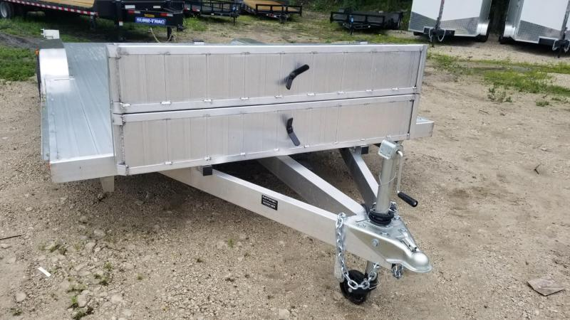 2020 R & R 7x18 All Aluminum Wide Front Auto Hauler 7k
