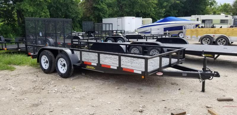 2020 M.E.B 6.4x16 Utility Trailer w/Gate and Brake 7k