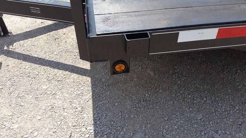 2020 M.E.B 7x18 Wood Deck Open Auto Hauler w/Slide Out Ramps 7K