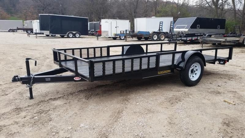 2019 M.E.B Xtra Wide 6.8x14 ATV/Utility Trailer w/5' Side Load Ramps 3k