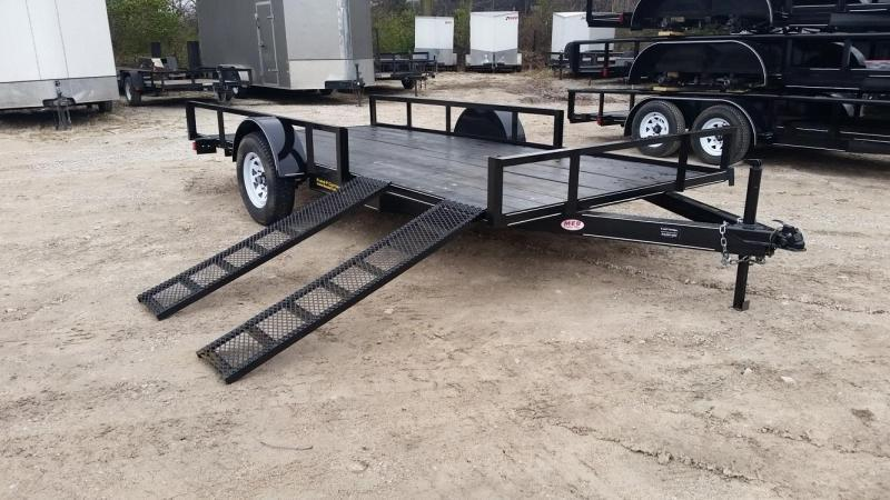 2019 M.E.B Xtra Wide 6.8x14 ATV/Utility Trailer w/5' Side Load Ramps 3k