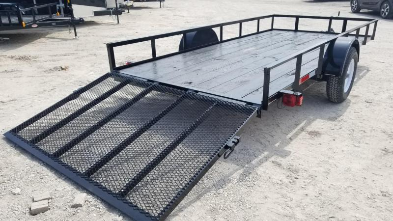2020 M.E.B. 6.4x14 Angle Iron Utility Trailer w/Gate 3k