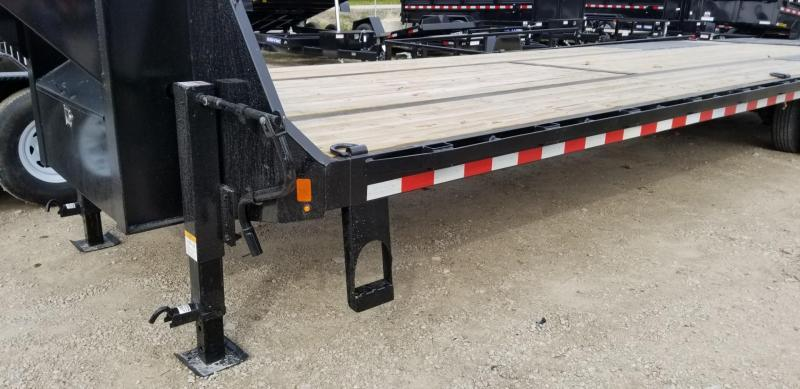 2020 Sure-Trac 8.5x25+5 Heavy Duty Gooseneck Equipment Trailer w/Full Width Ramps 20k