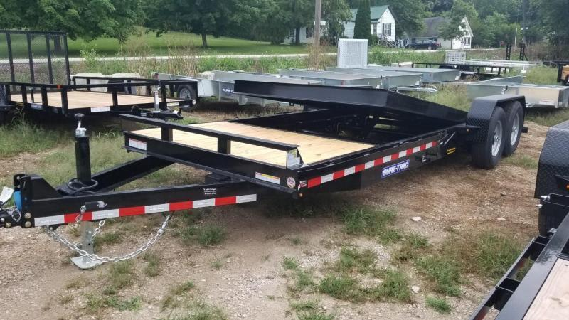 2020 Sure-Trac 7x18+4 Tilt Deck Equipment Trailer w/Stationary 14k