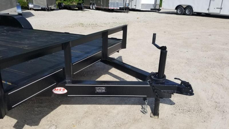2020 M.E.B 7x18 Wood Deck Auto Hauler w/Slide Out Ramps 7K