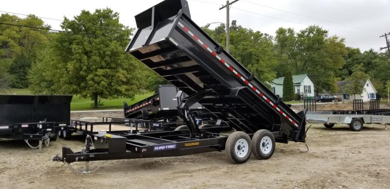 2020 Sure-Trac 82x14 Scissor Ram Lift Dump Trailer 14k