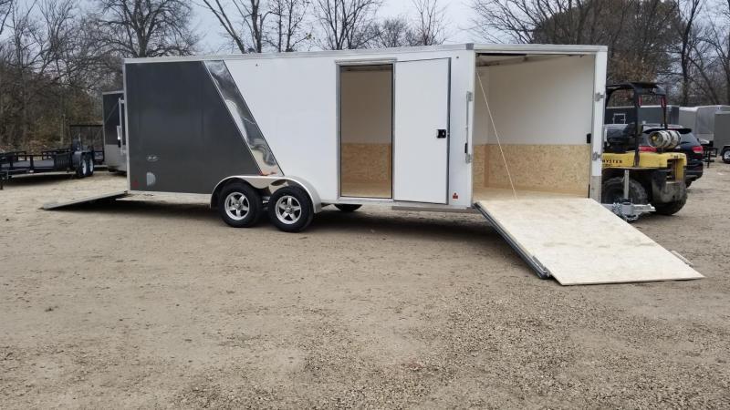 2020 R and R 7x18 Slasher Elite Aluminum Drive Thru 3 Place Snowmobile Trailer 7k