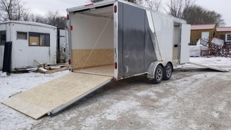 2020 R and R 7x18 Slasher Elite All Aluminum 3 Place Snowmobile Trailer 7k