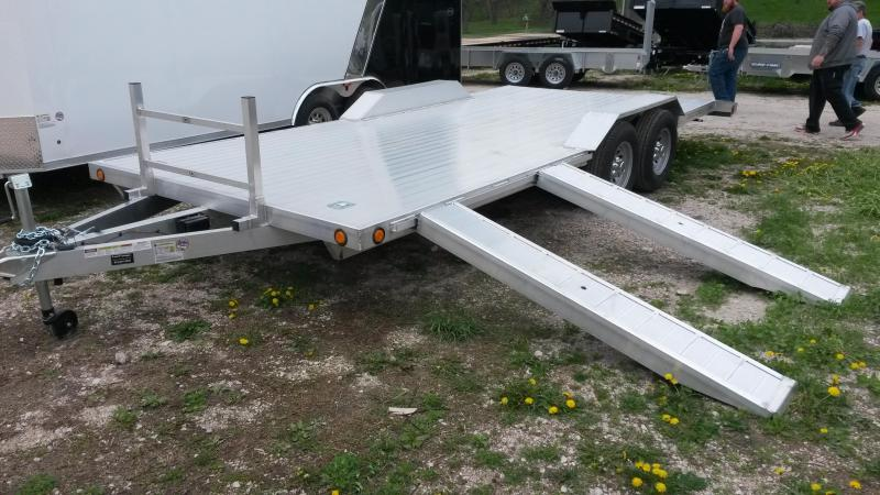 2020 R and R 7x22 All Aluminum Extra Wide Auto Hauler w/Drive Over Fenders 10k