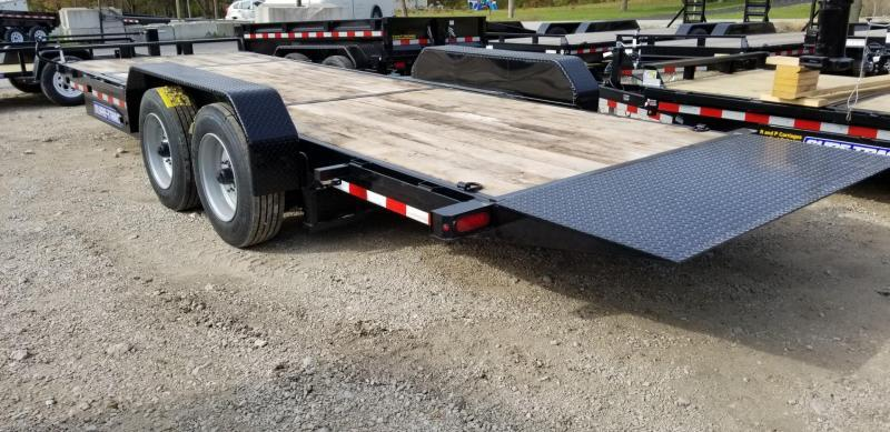 2020 Sure-Trac 7x18+4 Oak Wood Tilt Deck Equipment Trailer 16K